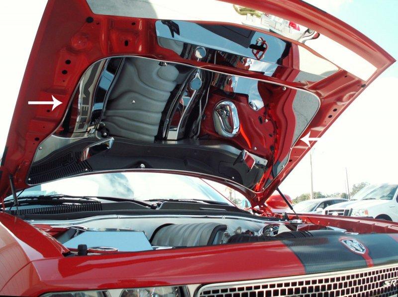 Acc 2008 2012 Dodge Challenger Srt8 Chrome Vented Hood