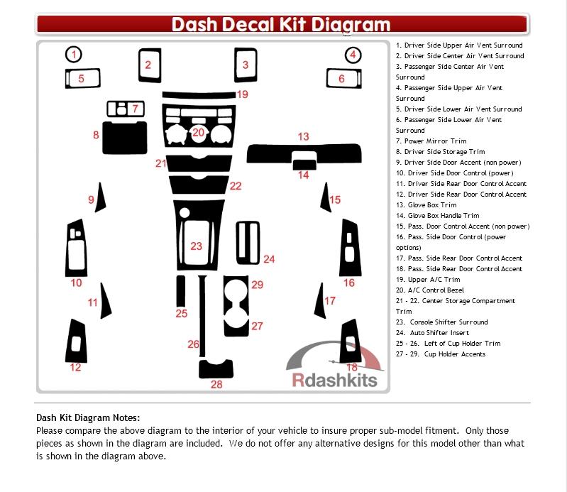 Dash Kit Decal Auto Interior Trim Toyota Corolla 2003 2008 Ebay