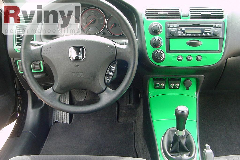 Dash Kit Decal Auto Interior Trim For Honda Civic 2001 2005 Ebay