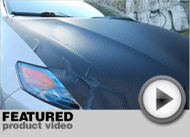 Honda Civic Carbon Fiber Hood Wrap