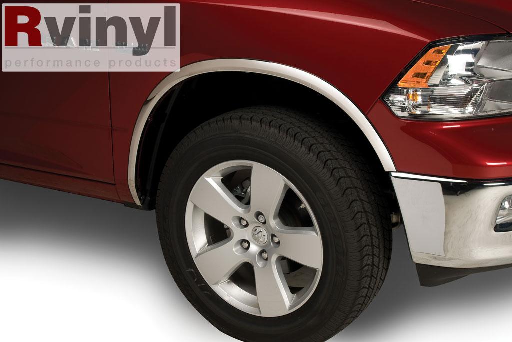 putco chevy silverado hd   stainless steel fender trim full cover  flares ebay