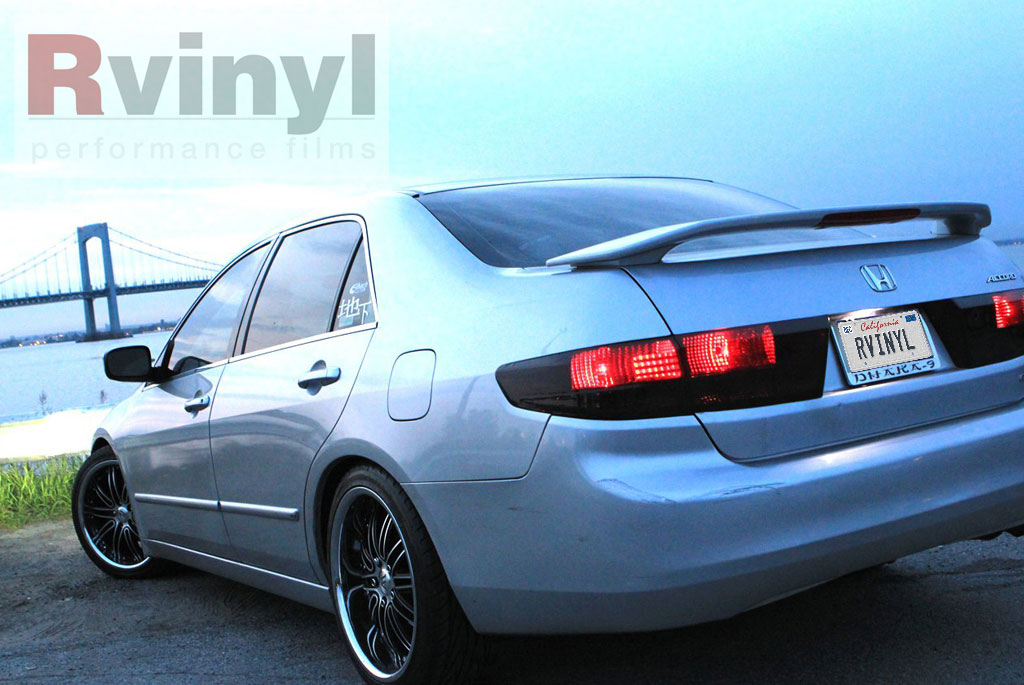 Honda Accord 2005 1 Smoked Tail Light Tint Covers pro precut smoke taillight tint film kit honda accord sedan 2003  at gsmx.co
