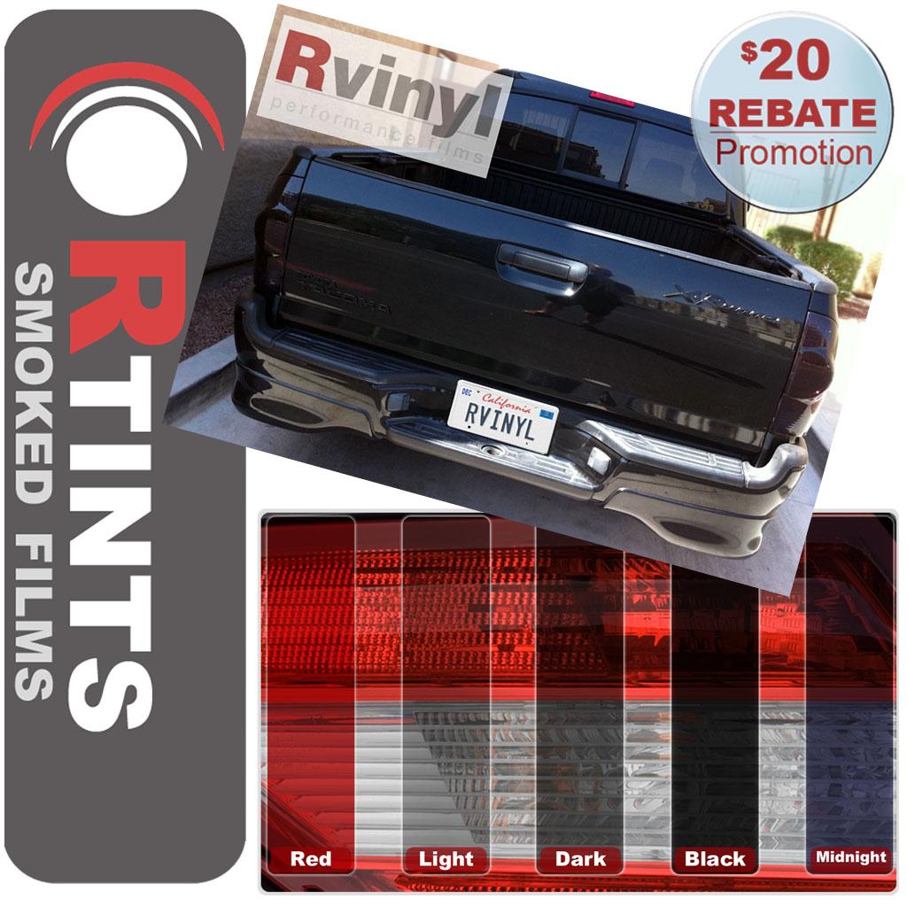 pro precut smoke taillight tint film kit toyota tacoma. Black Bedroom Furniture Sets. Home Design Ideas