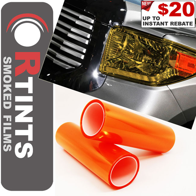 Orange Smoke Tint Film Orange tint, Orange film, Orange vinyl, Orange wrap, Orange headlight, Orange tail light, Orange fog light