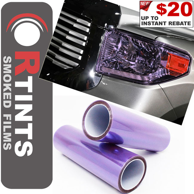Purple Smoke Tint Film Purple tint, Purple film, Purple vinyl, Purple wrap, Purple headlight, Purple tail light, Purple fog light