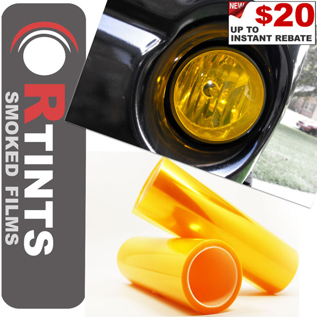 Yellow Smoke Tint Film Yellow tint, Yellow film, Yellow vinyl, Yellow wrap, Yellow headlight, Yellow tail light, Yellow fog light